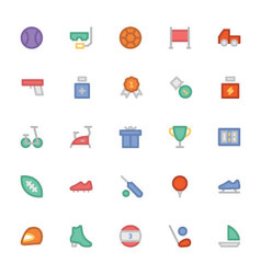 Sports colored icons 8 vector