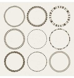 set of nine different frames vector image