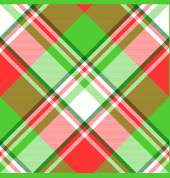 Abstract madras seamless pattern fabric texture vector