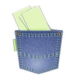 Back pocket vector