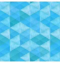 Blue retro textile triangles seamless pattern vector