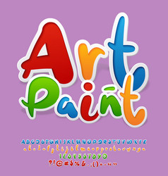 Bright logo with text art paint vector