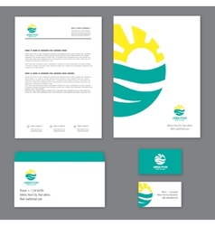 Corporate identity template Tourism vector image