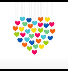 creative valentine day greeting design vector image vector image