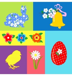 Easter Retro set element vector image