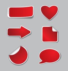 empty stickers vector image vector image