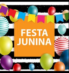 Festa junina holiday background traditional vector