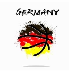 Flag of germany as an abstract basketball ball vector