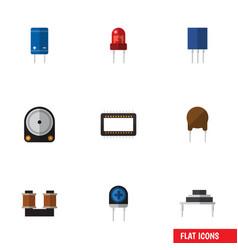 Flat icon device set of coil copper destination vector