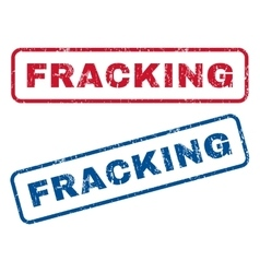 Fracking Rubber Stamps vector image vector image