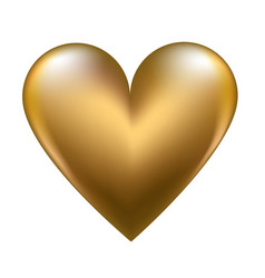 golden shiny heart vector image vector image