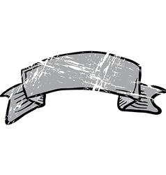 Grunge cartoon tattoo scroll banner vector