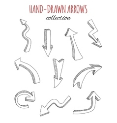 Hand drawn arrows collection vector