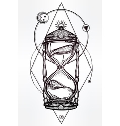 Hand drawn romantic design of a hourglass vector