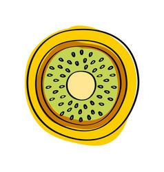 healthy fruit icon vector image vector image
