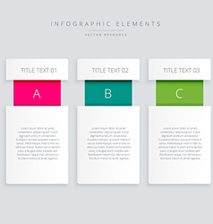 Infographic steps banner vector