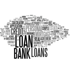 loans word cloud concept vector image vector image