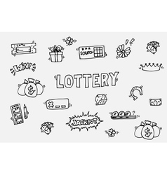 Lottery icons set vector image vector image