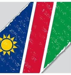 Namibian grunge flag vector