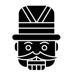 Nutcracker - toy soldier icon vector