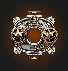 O letter with gears vector