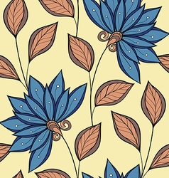 Seamless Floral Pattern Hand Drawn Floral Texture vector image