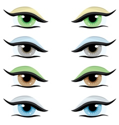 set of eyes vector image vector image