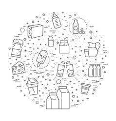 Set of icons for milk vector