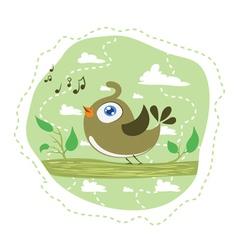 Singing bird vector