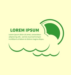 Sun and clouds icons with lorem ipsum text vector
