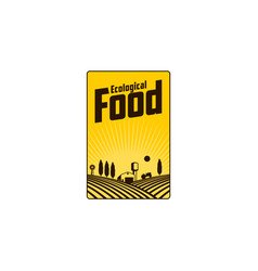 Vertical farm fireld logo badge label design vector