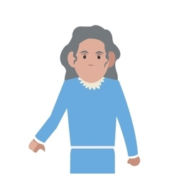 Senior woman icon vector