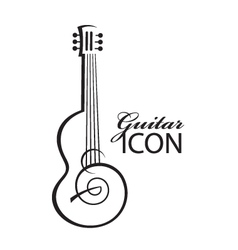 Icon with guitar vector