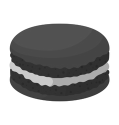 Chocolate biscuit icon in monochrome style vector