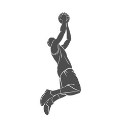 basketball player ball vector image