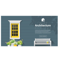 elements of architecture window background 11 vector image