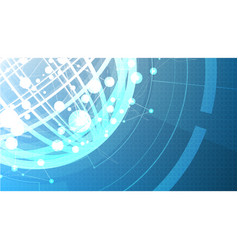 technological abstract global background vector image