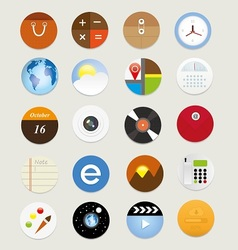 Web icons 17 vector image