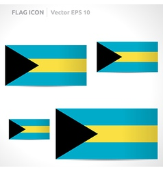 Bahamas flag template vector