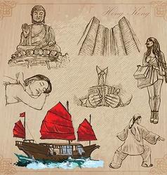 Hong kong pack no1 - travel vector