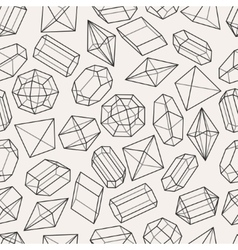 Seamless pattern with geometric crystals and vector