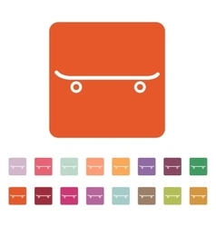 The skateboard icon sport symbol flat vector