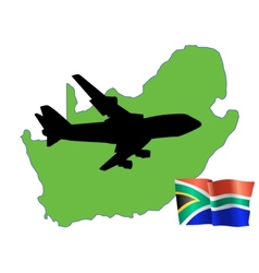 Fly me to the south africa vector