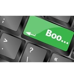 Boo word on computer keyboard keys keyboard keys vector