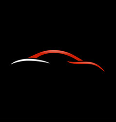 Abstract custom car swoosh shape symbol vector