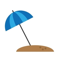 Beach umbrella parasol sun vacation vector