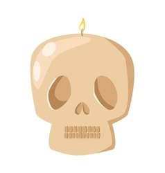 Burning skull candle vector