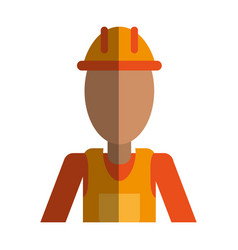 Construction worker contractor avatar icon image vector