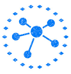 dotted links diagram grunge icon vector image vector image