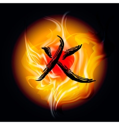 Fire 1 vector image